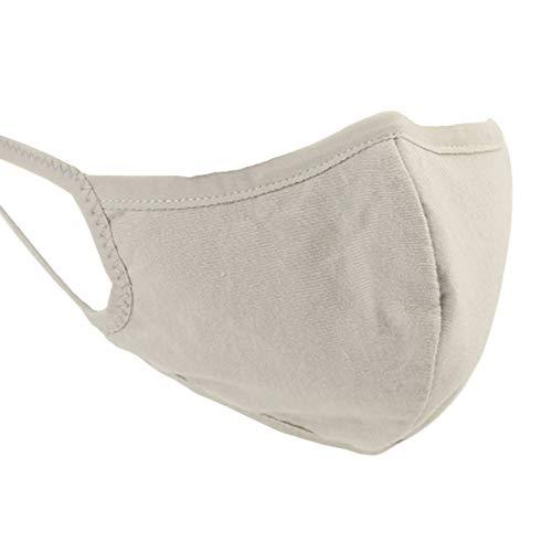Boomly 5 Pack Unisex Herren Damen Mund Maske Baumwolle Anti Staub Anti Nebel Gesichtsmaske Atmungsaktiv Ohrbügel Mundschutz Wiederverwendbar Schutzmaske Herbst Winter (Grau) Herbst Nebel