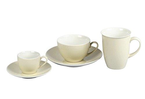 Ritzenhoff & Breker Doppio Kaffeebecher, Kaffee Becher, Tasse, Geschirr, Porzellan, Creme, 320 ml, 525359