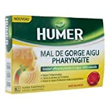 Humer Mal De Gorge Aigu Pharyngite 20 pastilles