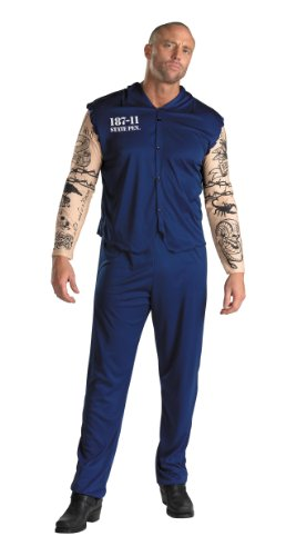 Bagnard Kostüm - Cesar-C463-Kostüm-Kostüm-Häftling mit Tattoos