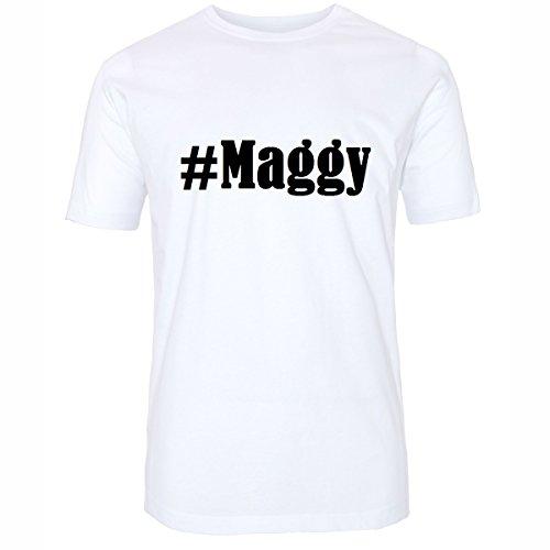 T-Shirt #Maggy Hashtag Raute für Damen Herren und Kinder ... in den Farben Schwarz und Weiss Weiß