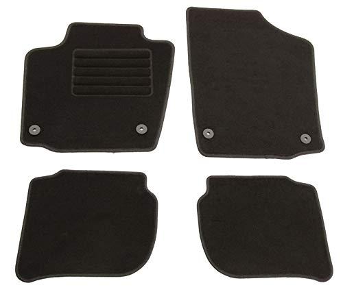 AD Tuning HG15059 Velours Fußmatten Set (4-teilig) Schwarz Passform Autoteppiche