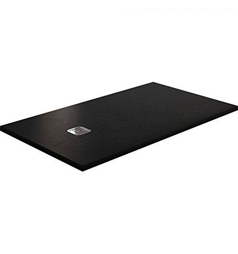 Piatto doccia in resina con effetto ardesia–180x 80, nero