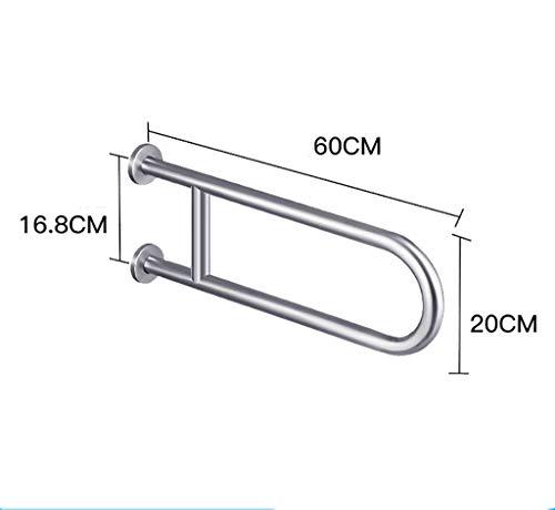 Handlauf Für Badezimmer WC-Armlehnenrahmen Aus Edelstahl 304 Für Behinderte, Für Behinderte, Sicherheitsregal (Farbe : A)