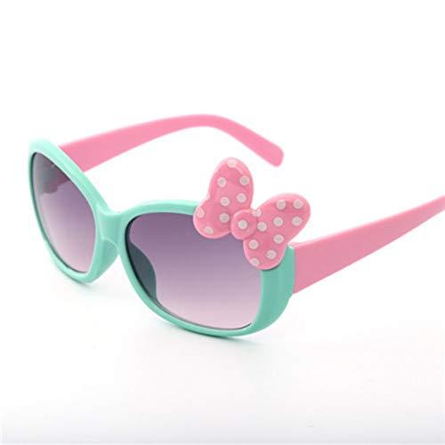 MoHHoM Sonnenbrillen Für Kinder,Fashion Cat Eye Cute Bug Kinder Sonnenbrille Für Junge Mädchen Baby Sonnenbrille Kinder Sport Outdoor Schatten Brillen Uv400 Grün
