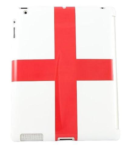 Aquarius Hartschale (für iPad2, für Smart Cover geeignet, mit Displayschutzfolie, Design mit englischer (George Englische Flagge)