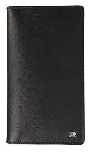 Leder Reise-brieftasche (Brown Bear Business Reise-Brieftasche Leder Schwarz für Herren und Damen hochwertig)