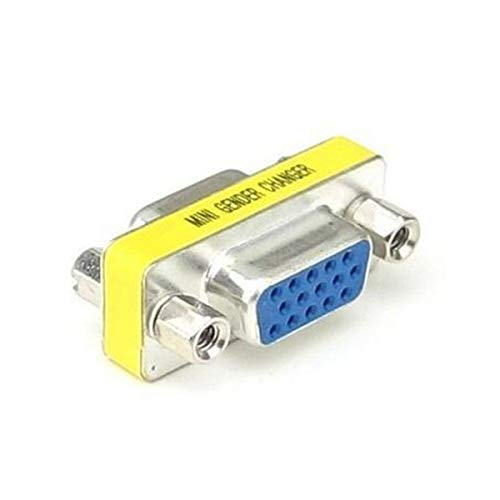 Rrunzfon Naisidier 15 HD/DB/15 VGA/SVGA KVM Mini Gender Changer Adapter weiblich zu weiblich -1 Mädchen -