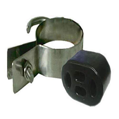 A TL Cherry Bomb Endrohr-Auspuffmontage-Set mit Klemme für sicheren Gummi-Block-Halterung.