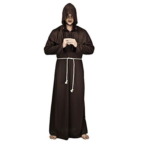 Zhhlinyuan [Halloween kostüm Herren Maskenspiel/Halloween Costume für Erwachsener Mens Vater Priester Christian Pastor Clergyman Cosplay Partei Robe