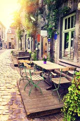 European Cafe (Leinwand-Bild 50 x 80 cm: