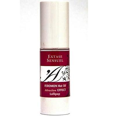 Falcon Huile de Massage Chauffant Feromon Extase Sensual Au Parfum de Lollipop, Aphrodisiaque, 30 Ml 30 ml