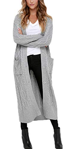 Aleumdr Strickmantel Strickjacke Damen Gestrickt Lose Cardigan Wintermantel Causal Cardigan...
