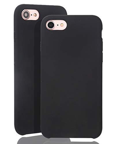 JMi [ Kompatibel mit Apple iPhone 7/8, in Schwarz Originale Silikonhülle - Hochwertig, perfekte Verarbeitung - Schlichtes Silicone Case Iphone Silicon Case