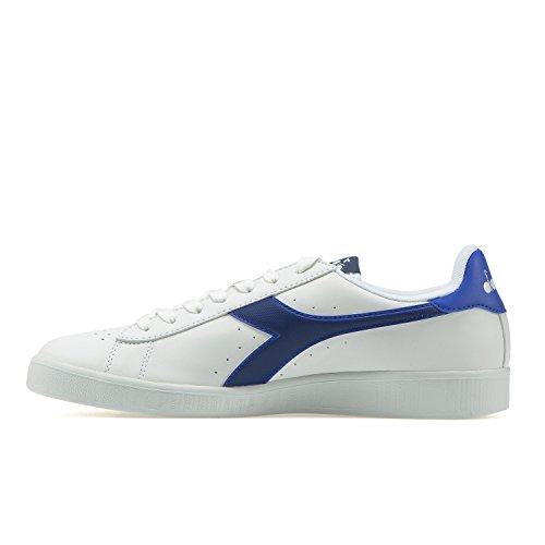 Diadora Game P, Sneaker a Collo Basso Unisex-Adulto C7353 - BIANCO-BLU ESTATE-AZZURRO SCURO