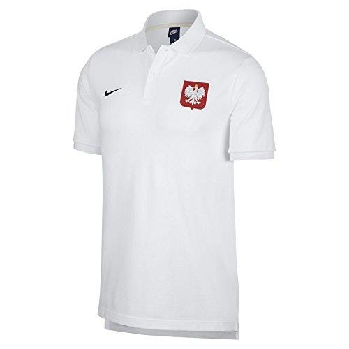 2018-2019 Poland Nike Core Pique Polo Shirt (White) (Polo Nike-pique Shirt)
