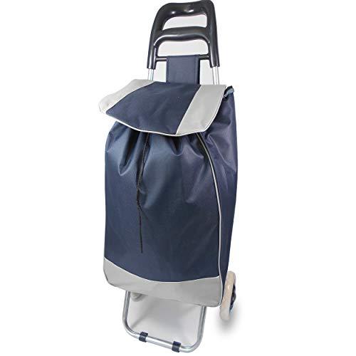 Einkauftrolly Einkaufstrolley Zeitungswagen Prospektwagen Einkauswagen auf Rädern Einkaufstasche Rollen  Blau