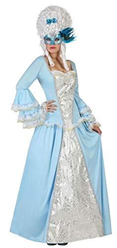 Antoinette Marie Kostüm Damen - Fancy Me Damen Kostüm Marie Antoinette Renaissance, georgisch, Gr. 36-44, Blau