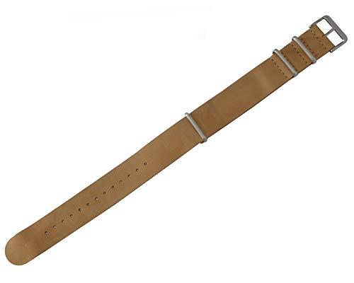 Pop Pilot Unisex Erwachsene Leder Uhrenarmband LB Cognac Large 22 mm