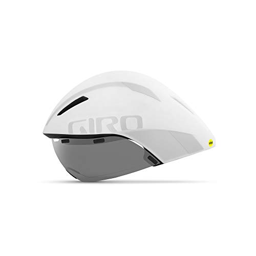 Giro Aerohead MIPS - Casco Triple, Unisex, Color Blanco/Plateado, tamaño Medium/55-59 cm