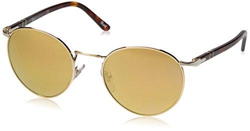 Persol Unisex PO2388S Sonnenbrille, Mehrfarbig (Gestell: Havana, Gläser: Hellbraun verspiegelt Gold 1016W4), Medium (51)