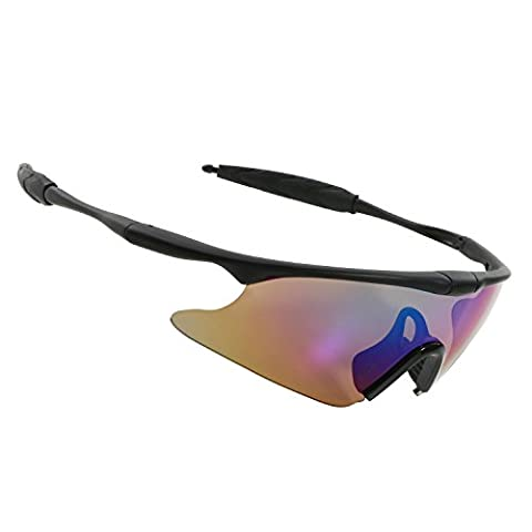 Fashion Brillen Unisex, halber Rahmen Outdoor Sport Sonnenbrille Damen Herren Jungen Mädchen Anti-Fog UV400Schutz Sonnenbrille für Radfahren Reiten Angeln Laufen Golf fahren Reise Aktivitäten, bunt