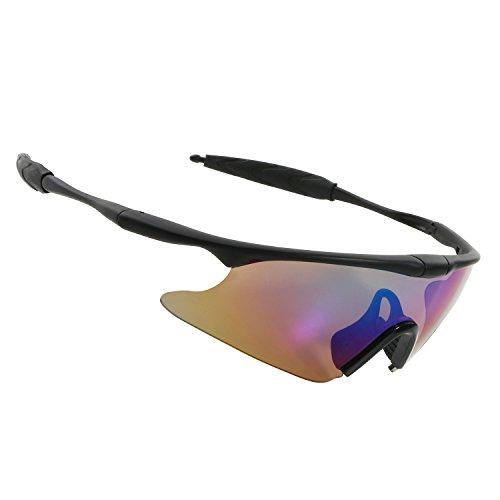 Fashion Brillen Unisex, halber Rahmen Outdoor Sport Sonnenbrille Damen Herren Jungen Mädchen Anti-Fog UV400Schutz Sonnenbrille für Radfahren Reiten Angeln Laufen Golf fahren Reise Aktivitäten, (Rainbow Fox Kit)