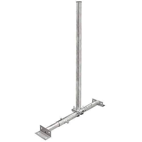 SkyRevolt SR48 Dachsparrenmasthalter mit 1 Meter 48mm Mast Dach Sparren Halter verstellbar Aufsparrenhalter verzinkt 100cm