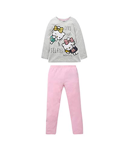 Hello Kitty Pyjama Grau (128)