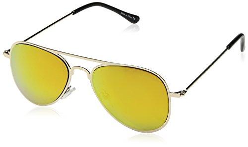 Eyekepper 2-6 Jahre alte Kinder Flieger-Sonnenbrille Gold Rahmen-Rot Spiegel