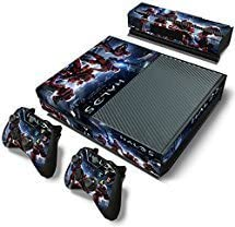 Elton Halo 5 Guardians Master Chief Team BattleTheme Skin Sticker Cover for Xbox One Console, Kinect & Controllers