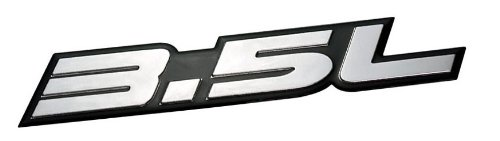 3.5L Liter Embossed SILVER on Black Highly Polished Silver Real Aluminum Auto Emblem Badge Nameplate for Toyota Camry Crown Athlete GRS184 GRS204 Crown Hybrid GWS204 Mark X GRX133 Lexus GS 350 450h IS 350 350C GS350 GR191 GR196 GWS191 GSE21 ACURA Honda Accord Odyssey Pilot Kia Sedona SE Mazda CX9 MZI BMW 335i Mercedes C350 E350 Nissan Altima Maxima 350Z Infiniti G35 Mazda CX9 MZI (Für Spoiler 350z Nissan)