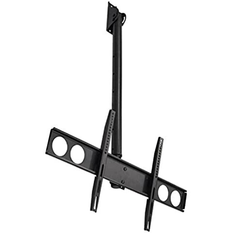 Auna PLB-CE448 supporto TV staffa universale a parete o soffitto braccio orientabile (50 KG, VESA, cavi a scomparsa)