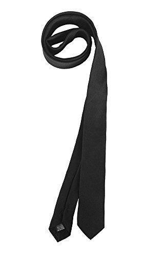 Cravatta 100% seta colore nero pala 5 cm collezione tessago made in italy