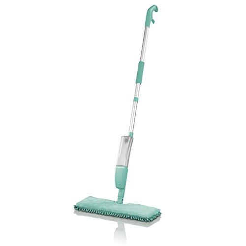 CLEANmaxx 09966 Spray Mopp 2 in 1 | Wende Mopp Für Nass- & Trockenreinigung | Integrierte Sprühfunktion | Sprühen, Putzen, Wischen |350ml Wassertank | Türkis