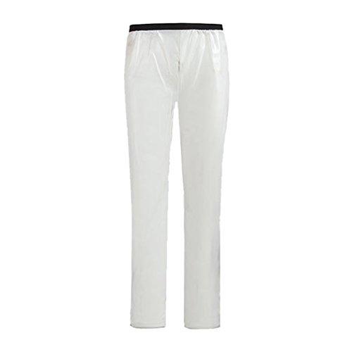 WanYang 1 Pièce Haut Vetement de Pluie Veste Pantalon Imperméable Pluie de Pluie Moto Pantalon de Pluie Vélo Blanc (Pantalon)