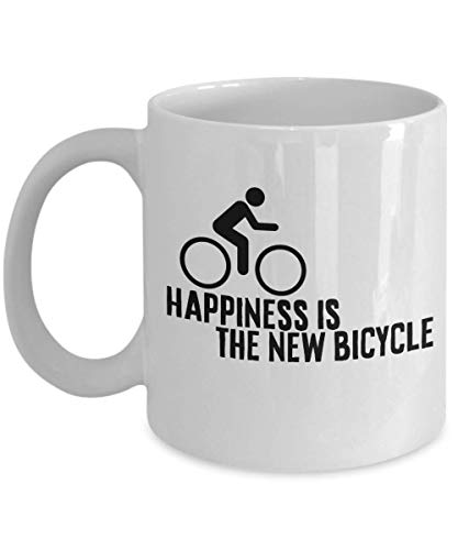 Happiness is a New Bicycle Present Gift Bikers Bicycle Coffee Mug Tea Cup Ceramic Cafe Hot Drinks Friends Family 26/5 Joed