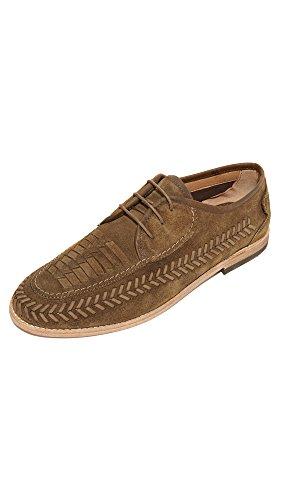 Herren H By Hudson Anfa Wildleder Tabak B�ro Formal Loafer Arbeit Schuh EU 40-46 Tabakfarben