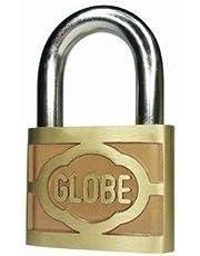 SHAKS TRADERS Globe Pressing Brass Padlock with 3 Keys (2.5inch)