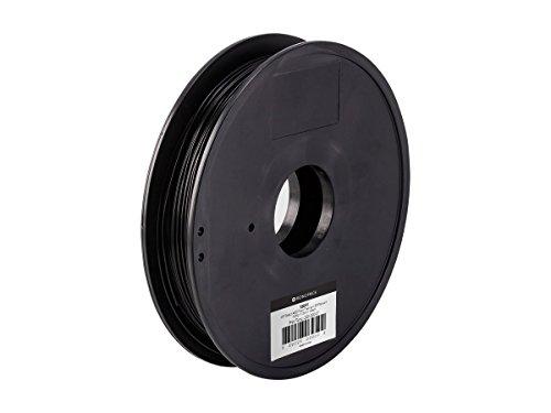 Monoprice MP Select ABS Plus + Premium 3D Filament - Schwarz, 0,5 kg, 1,75 mm dick, 40% stärker als gewöhnliches ABS-Filament (Tape Open Reel)