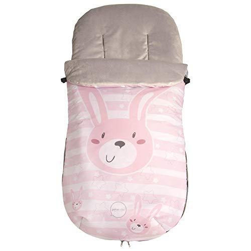 Pekebaby Coello - Saco polar universal impermeable, niñas, color rosa