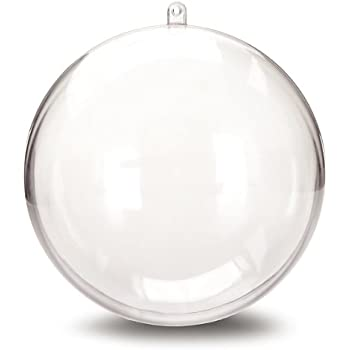 Clear Crystal Glass Baubles Mm