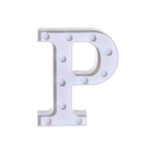 Xshuai 22 cm X 18 cm X 4,5 cm Lange Lebensdauer Alphabet Brief Lichter LED Leuchten Weißen Kunststoff Buchstaben Stehen Hängen A-M & (P)