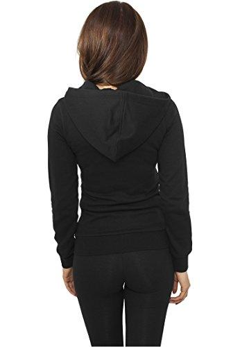 Urban Classics Ladies Biker Sweat Jacket TB941 Black