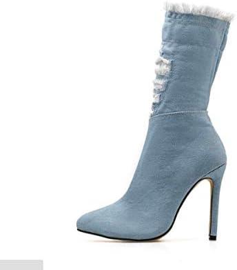 KOKQSX-super tacco alto medio tubo stivali stivali stivali sottile tallone con alto 11cm affilato. blu 37 B07HM963NB Parent | Outlet  | Consegna Immediata  2c8622