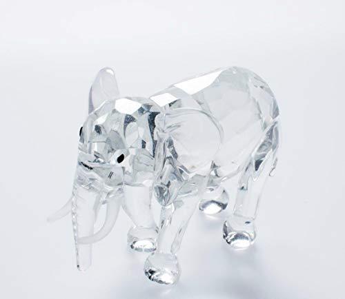 IXO/ALTAYA/ATLAS Crystal Style Elefant hochwertige geschliffene Kristall Figur für Sammler Crystal Atlas