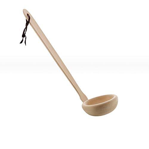 eliga Schöpfkelle Holz gewinkelt, Länge circa 30 cm
