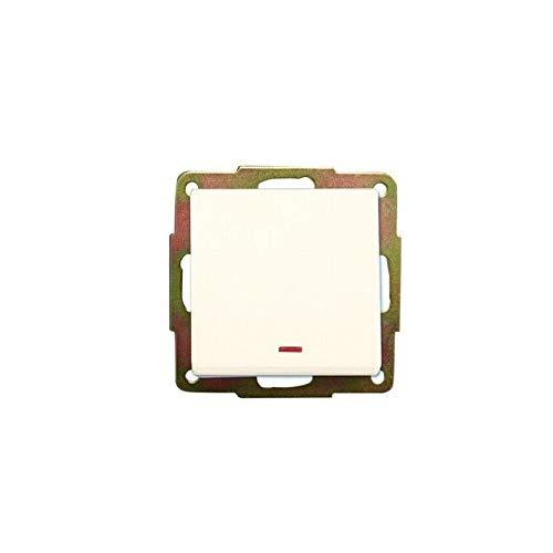 Evila - Conmutador empotrar 56x56 con led blanco