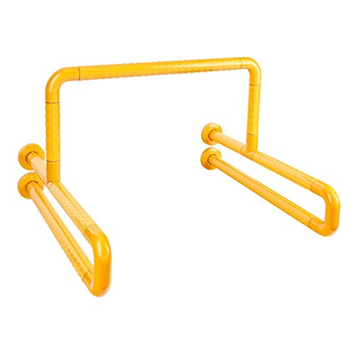 Phcom Badezimmer-Urinal-Handlauf Edelstahl-Sicherheits-untauglicher allgemeiner Badezimmer-älterer barrierefreier Griff (Farbe: Gelb),Gelb -