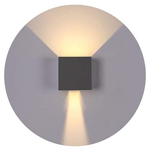 K-Bright Applique murale, 7W blanc chaud, IP65, orientable vers le haut et vers le bas poutre lumineuse, gris foncé